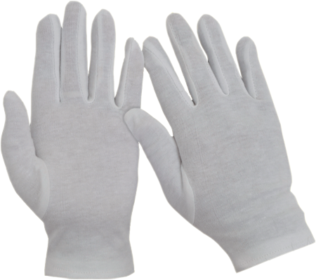 Interlock White Bleached Gloves